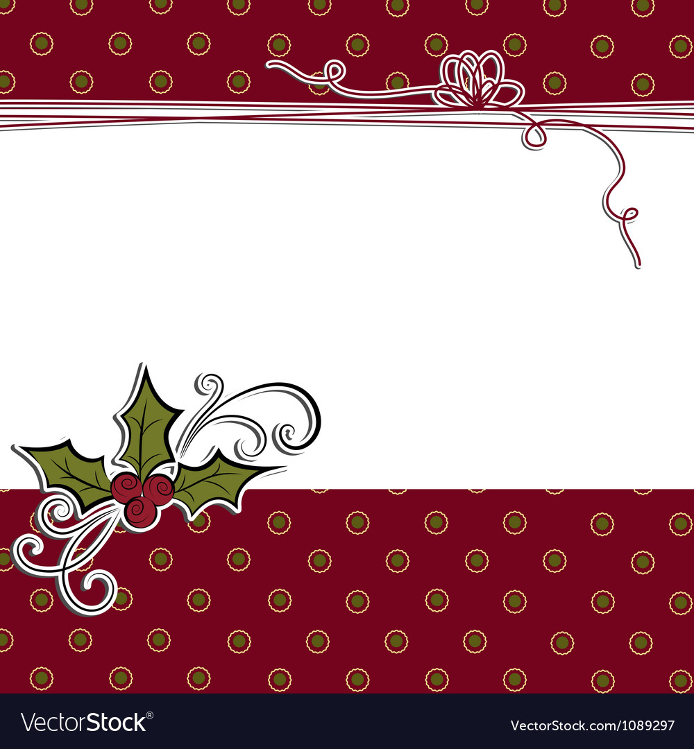 Cute christmas postcard template vector | Price: 1 Credit (USD $1)