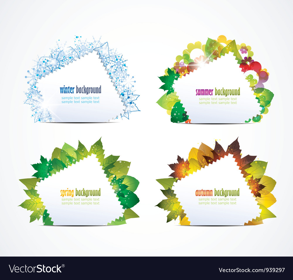 Four seasons background vector | Price: 1 Credit (USD $1)
