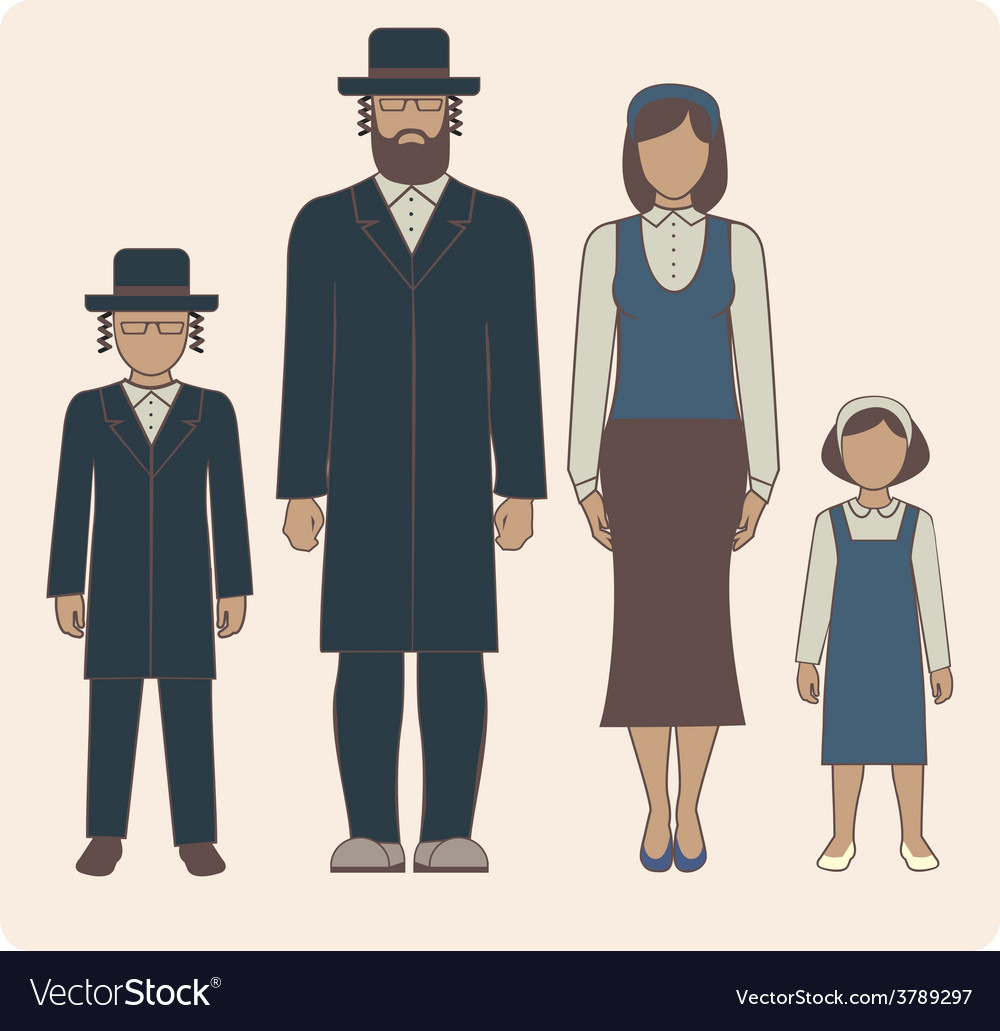Jewish family vector | Price: 1 Credit (USD $1)