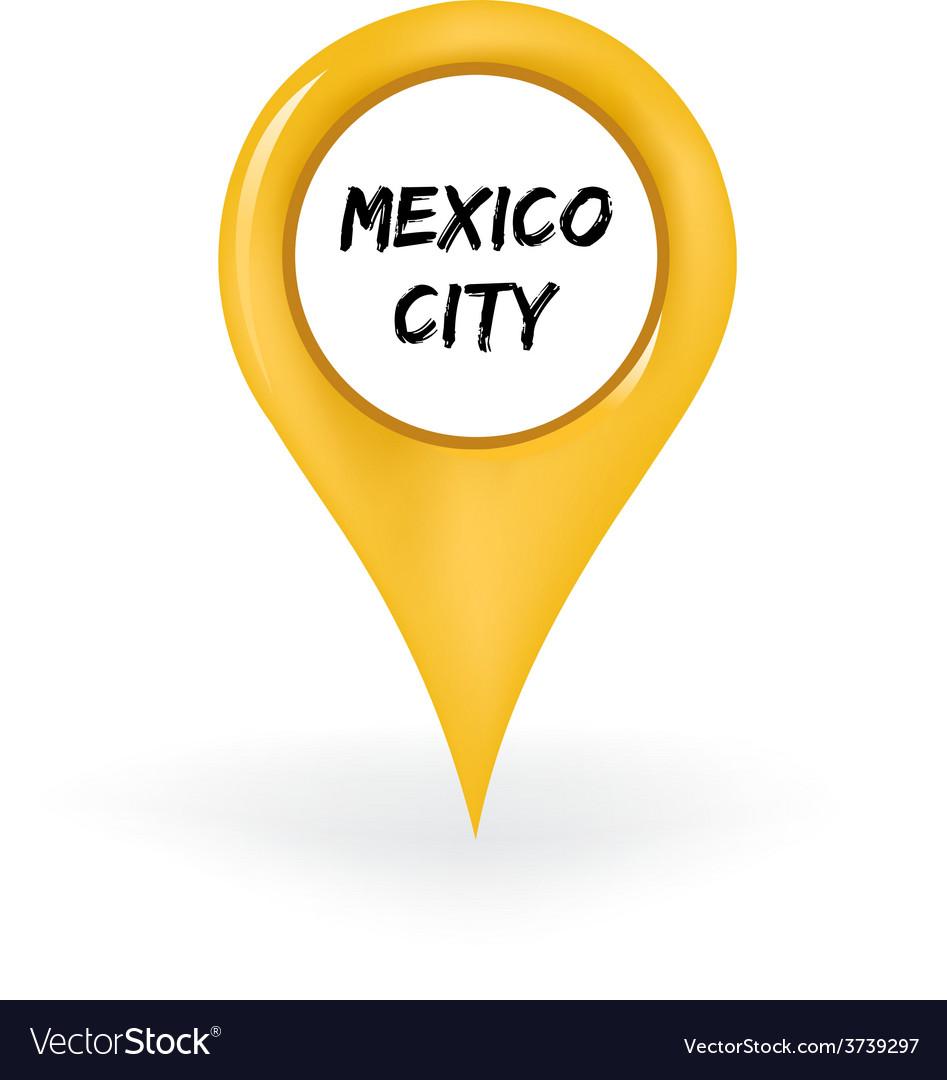 Location mexico city vector | Price: 1 Credit (USD $1)