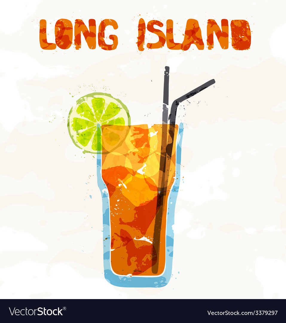 Long island ice tea coctail vector | Price: 1 Credit (USD $1)