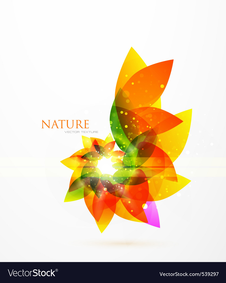Modern leaves vector | Price: 1 Credit (USD $1)