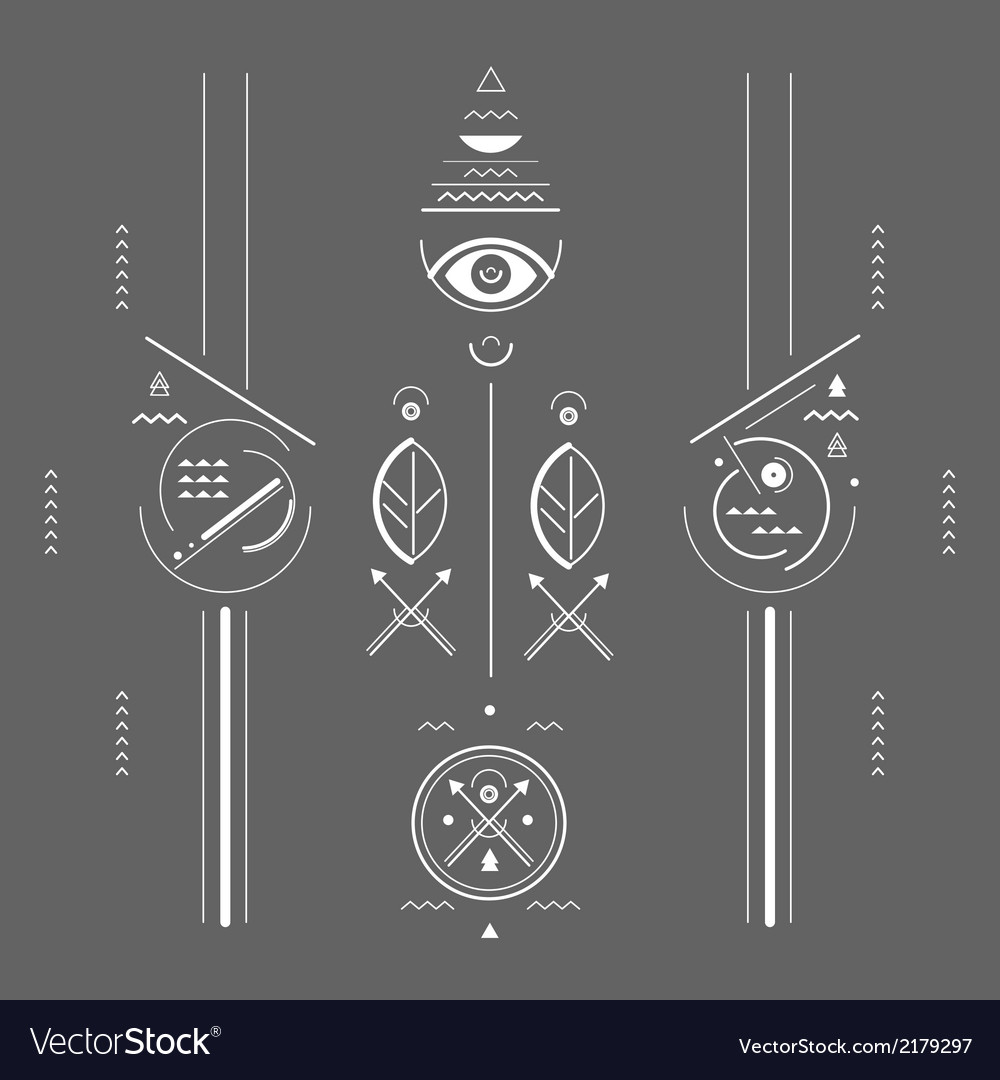 Mystical signs vector | Price: 1 Credit (USD $1)