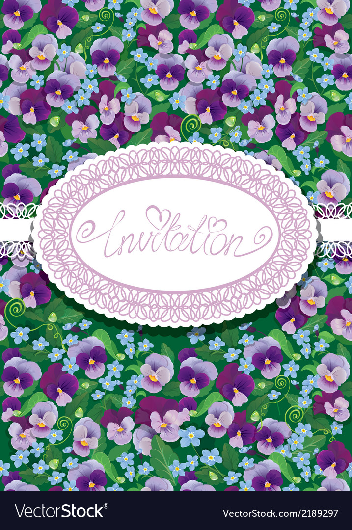 Pansy card 380 vector | Price: 1 Credit (USD $1)