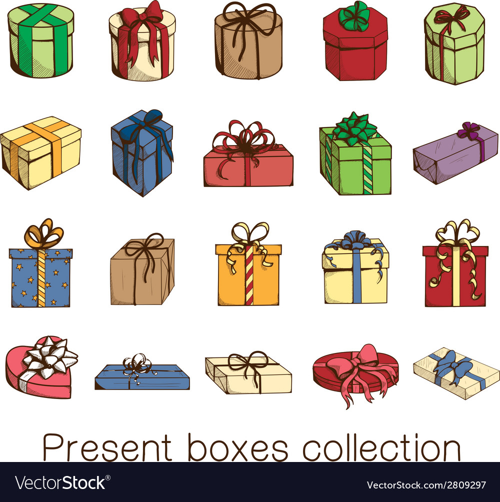 Present boxes collection vector | Price: 1 Credit (USD $1)