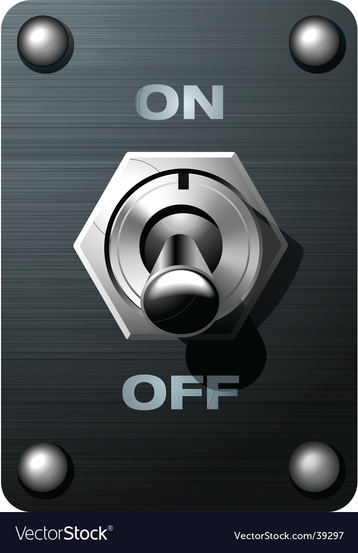 Toggle switch tumbler vector | Price: 1 Credit (USD $1)