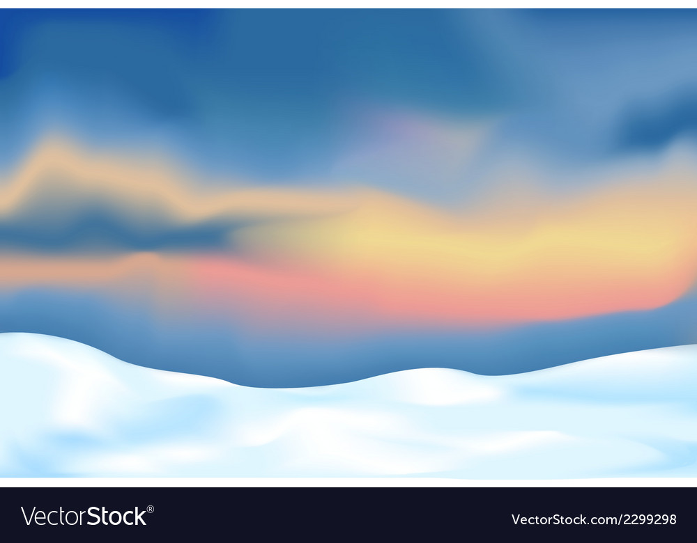 Abstract landscape with snow vector | Price: 1 Credit (USD $1)