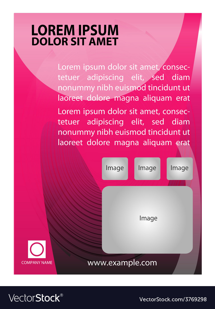 Abstract pink flyer vector