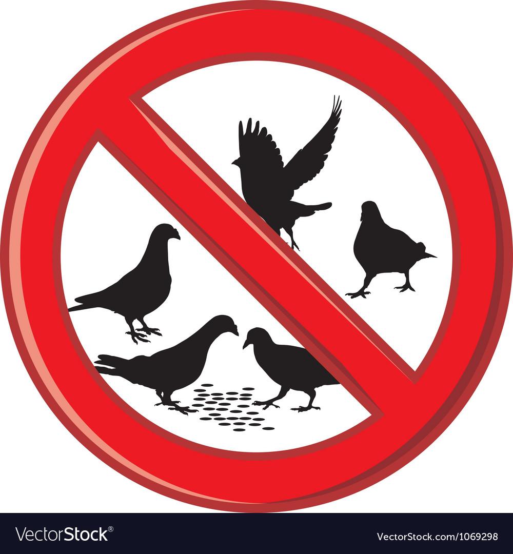 Ban on feeding pigeons vector | Price: 1 Credit (USD $1)