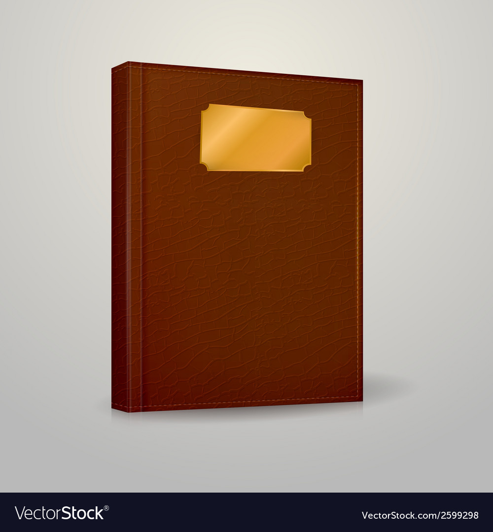 Brown notebook vector | Price: 1 Credit (USD $1)