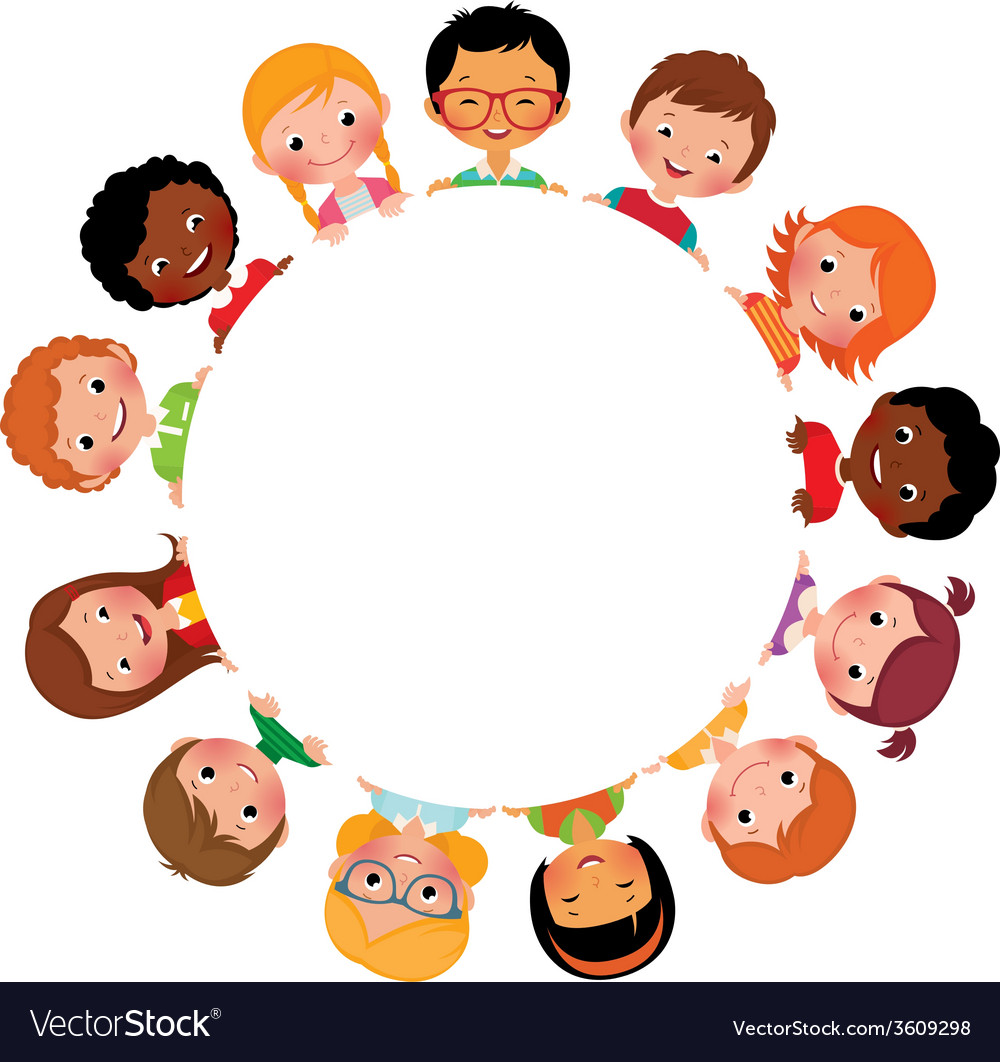 Children of friends of the world vector