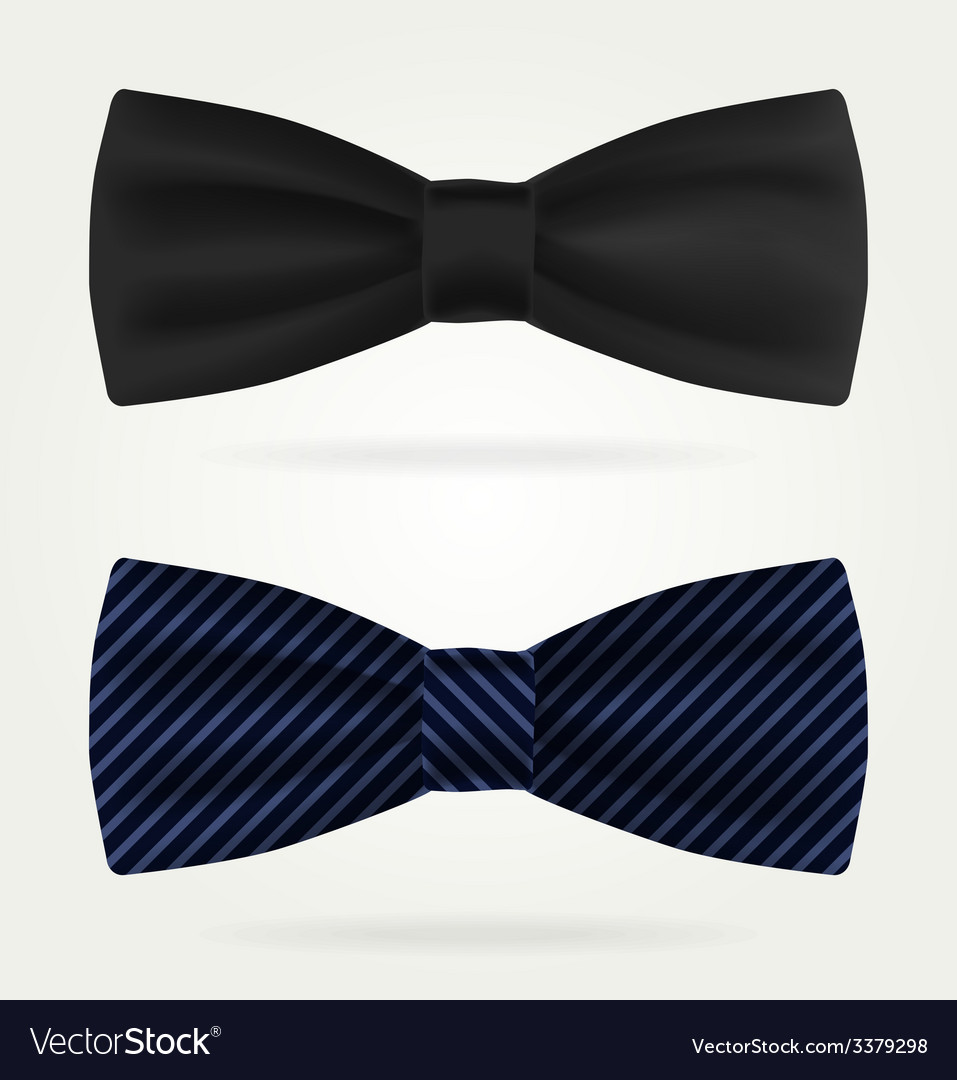 Dark tie on a white background vector | Price: 1 Credit (USD $1)