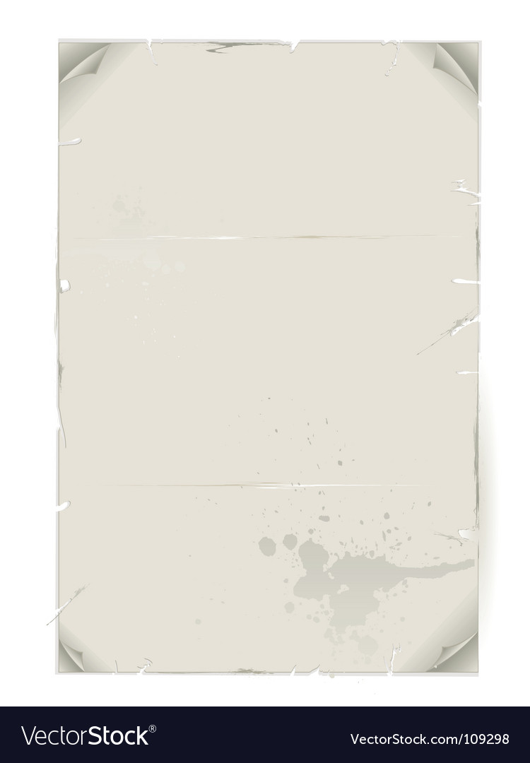 Dirty crumpled sheet of paper vector | Price: 1 Credit (USD $1)