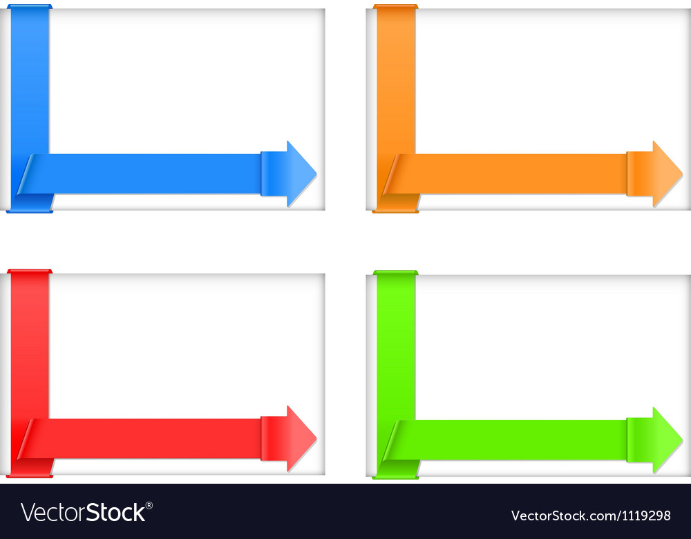 Four banners vector | Price: 1 Credit (USD $1)