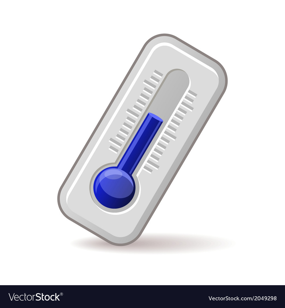 Thermometers icon with blue level vector | Price: 1 Credit (USD $1)