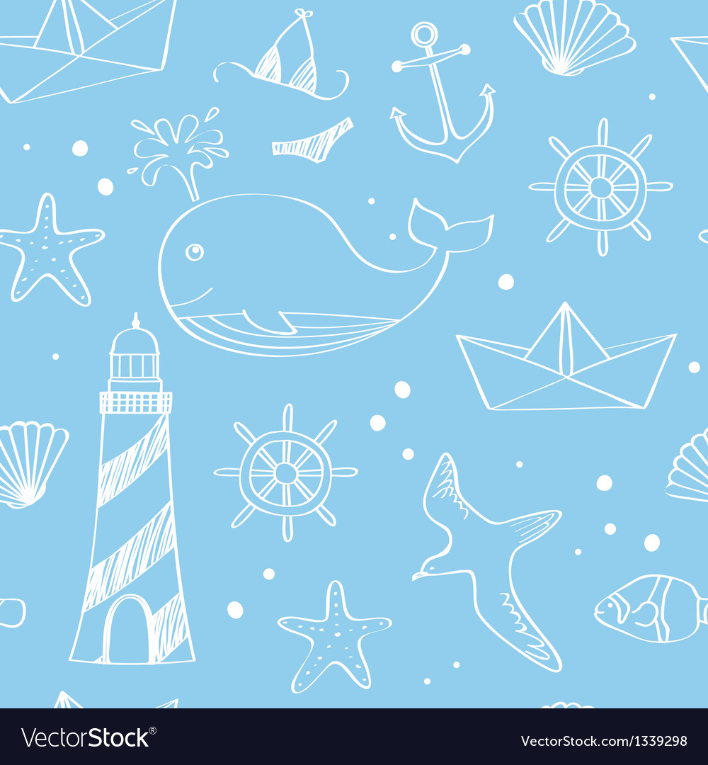 Nautical doodles vector | Price: 1 Credit (USD $1)