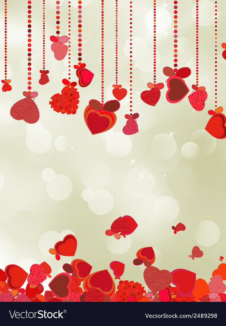 Valentine holiday lights with copyspace eps 8 vector | Price: 1 Credit (USD $1)
