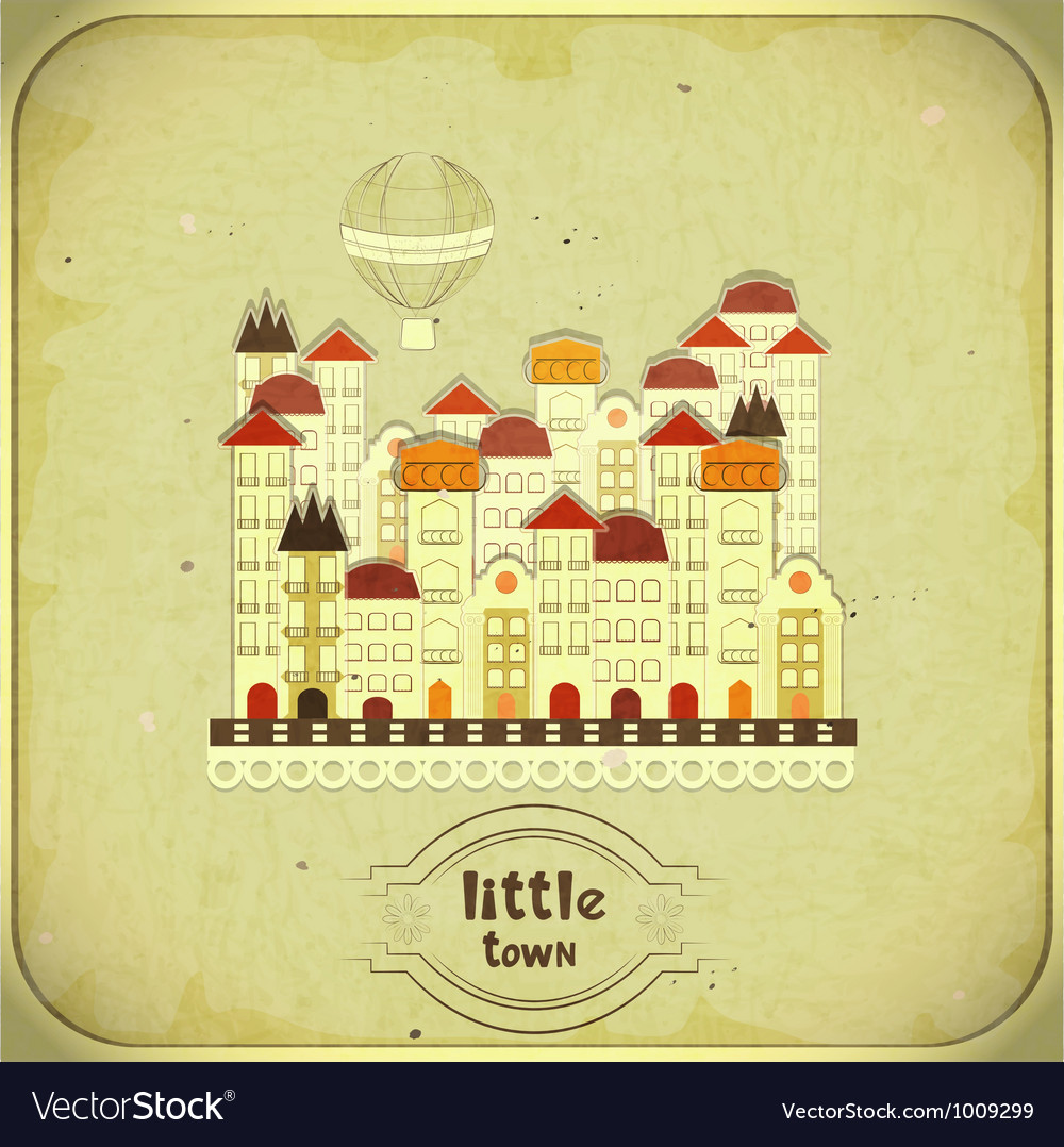 Cartoon little town vector | Price: 1 Credit (USD $1)