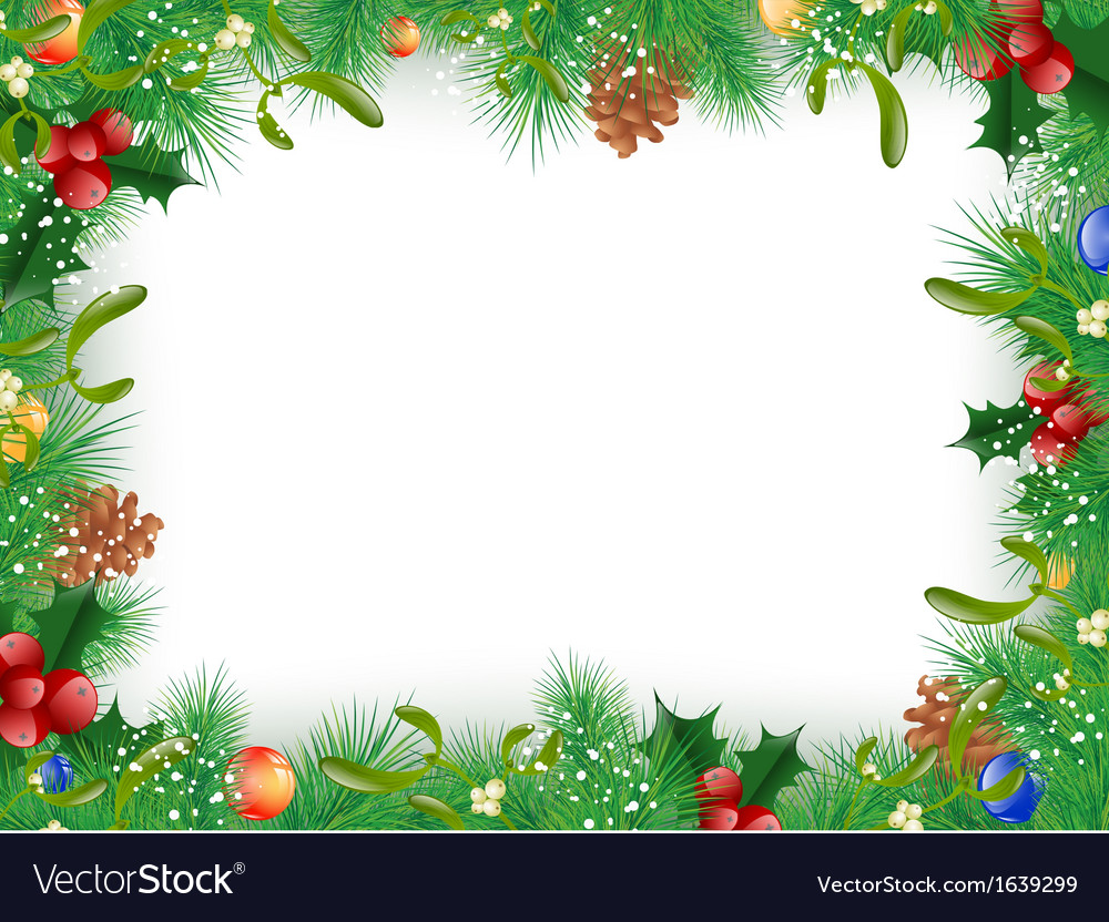 Christmas and new year frame vector | Price: 1 Credit (USD $1)