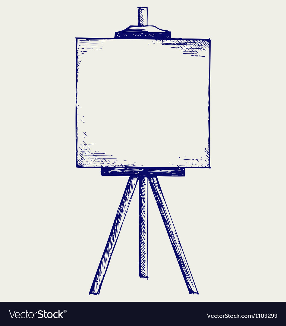 Easel with empty canvas vector | Price: 1 Credit (USD $1)