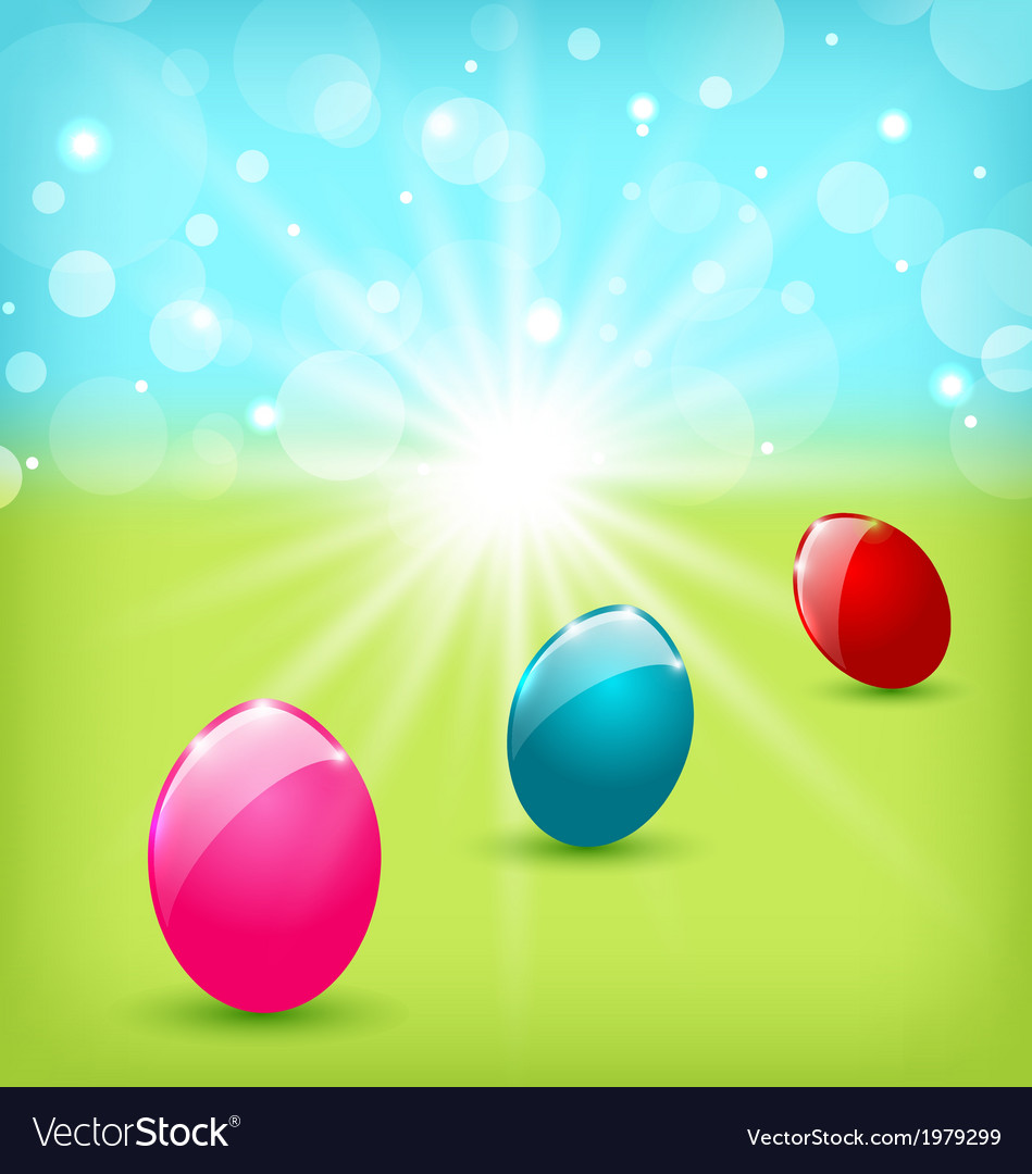 Easter background with colorful eggs vector | Price: 1 Credit (USD $1)