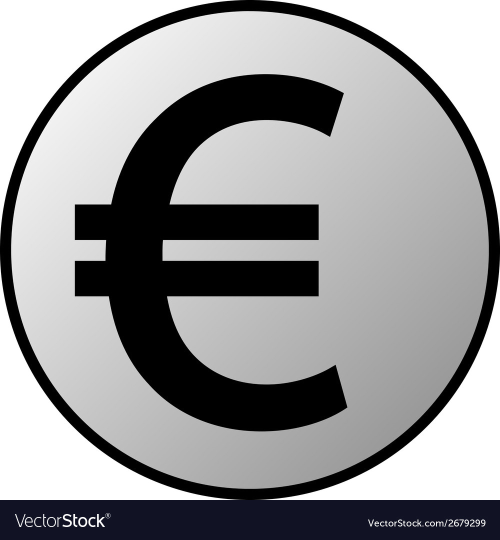 Euro button vector | Price: 1 Credit (USD $1)