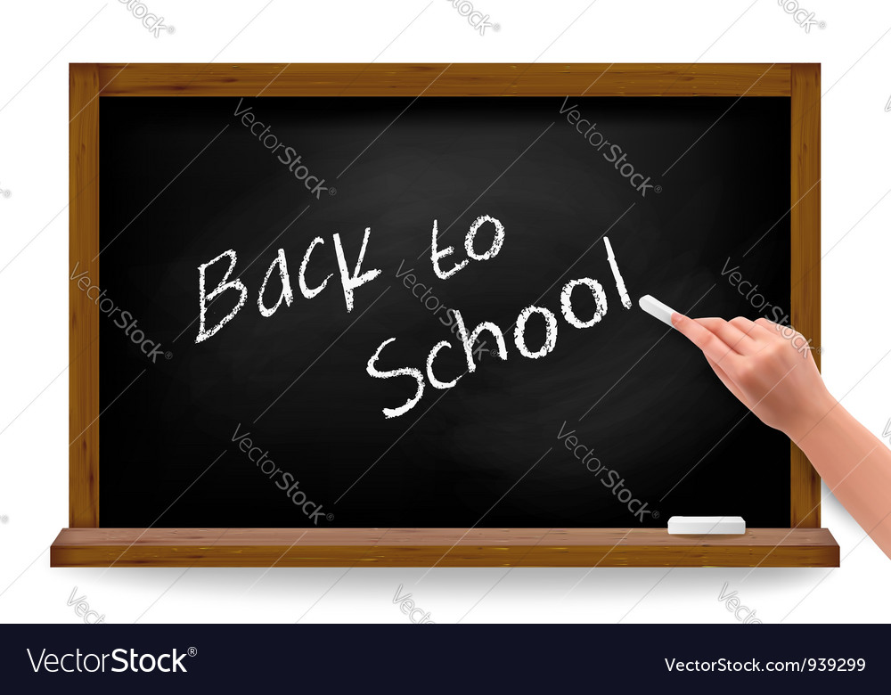 Hand writing on a blackboard vector | Price: 3 Credit (USD $3)