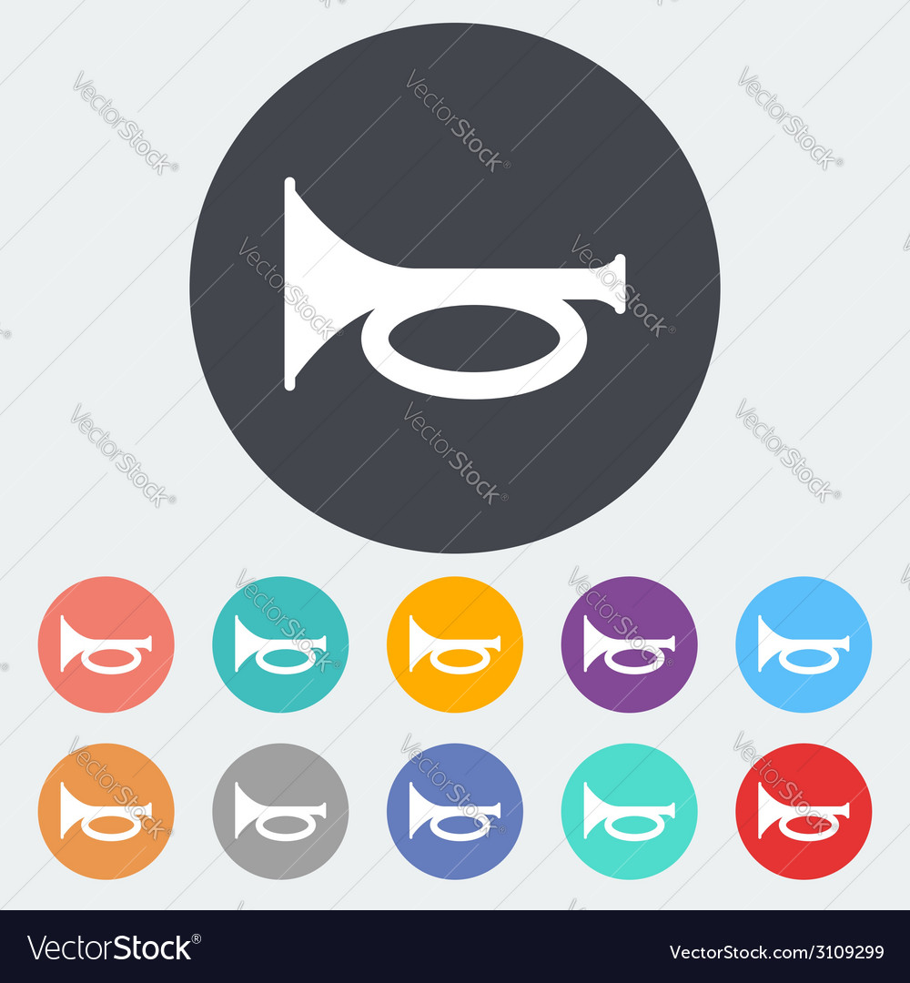 Horn icon vector | Price: 1 Credit (USD $1)