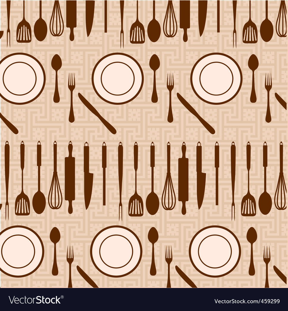 Kitchen and eating pattern vector | Price: 1 Credit (USD $1)