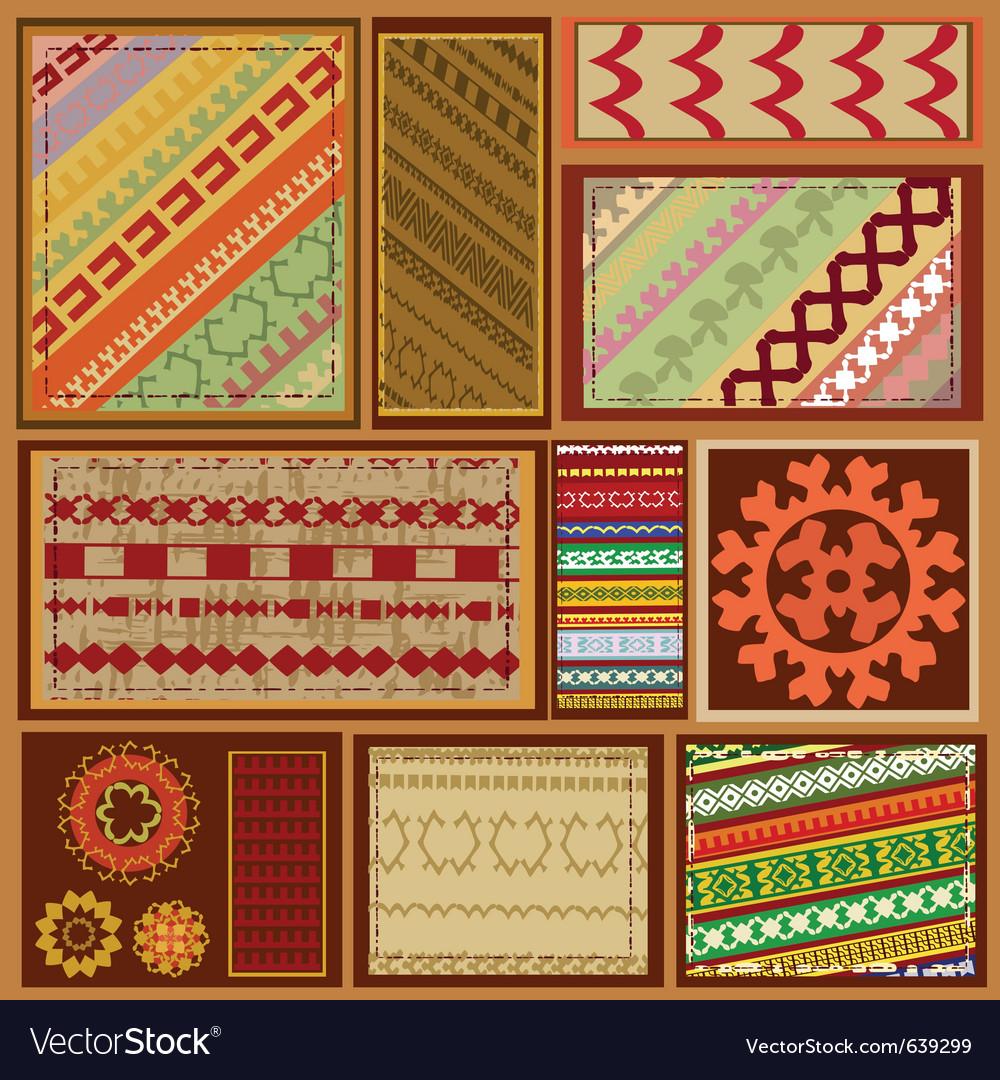 Siberian ethnic patterns vector | Price: 1 Credit (USD $1)
