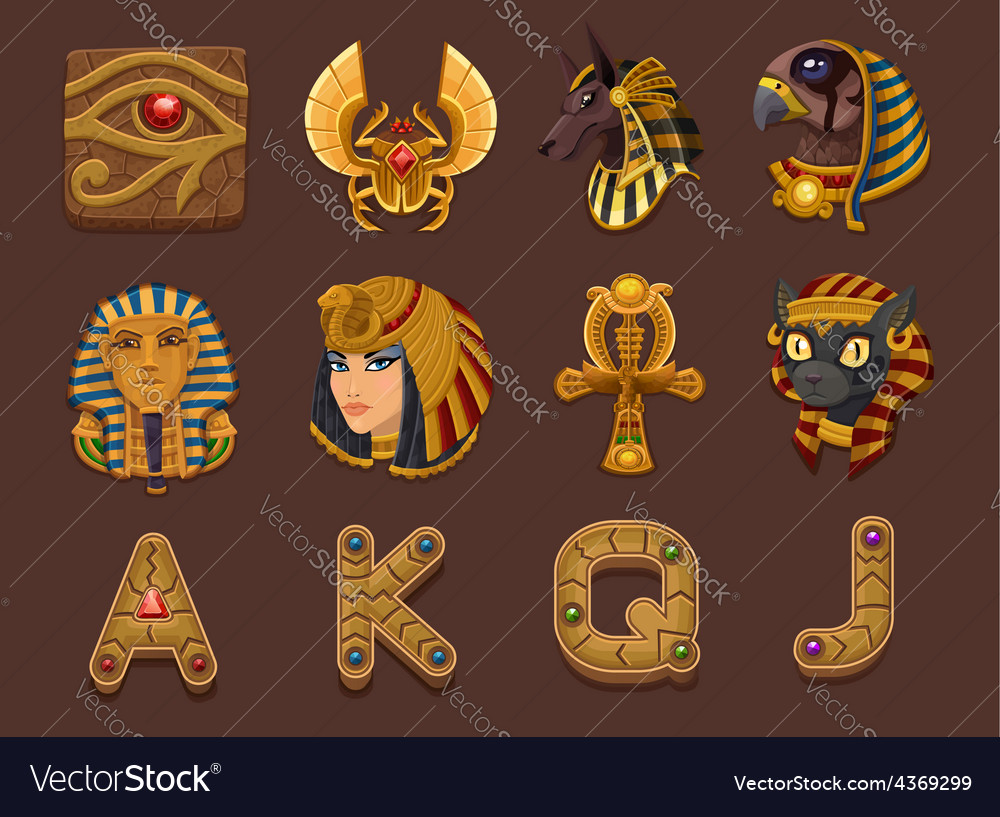 Symbols for slots game vector