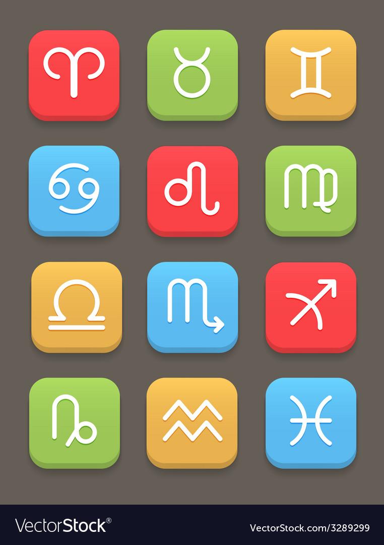 Zodiac icon for web or mobile vector | Price: 1 Credit (USD $1)