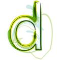 Green letter d vector