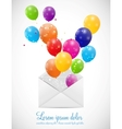 Envelope with balloons vector