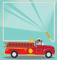 Firetruck birthday party vector