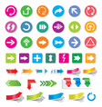 Arrow sign icon set and labels vector
