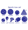 Different sports icon vector