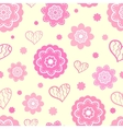 Romantic seamless pattern tiling vector