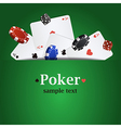 Poker background with playing cards chips and vector