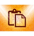 Blank paper flat modern web button and space for vector