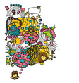 Cartoon fairy designs vector