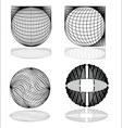 Modern spheres vector