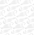 White abstract sea wave shapes seamless vector
