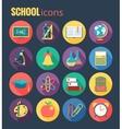 School icon set  eps10 vector