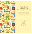 Farm elements in doodle style vector