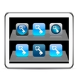 Key blue app icons vector
