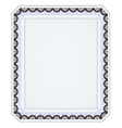 Diploma frame vector
