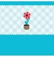 Growing plant flower in pot vector