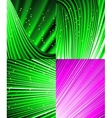 Set of abstract luminous rays background vector