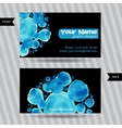 Business cards with round watercolor blots vector